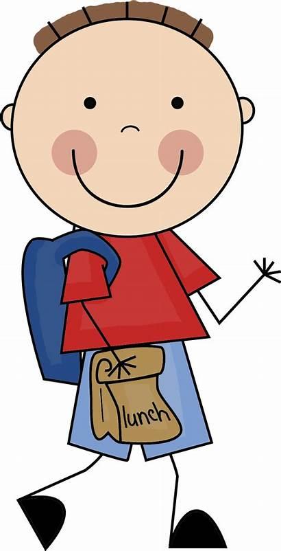Student Clipart Boy Doodles Cliparts Clip Stick