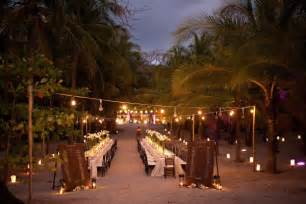 Tropical Wedding Decorations by Long Wedding Table Setting On The Beach Fab Mood