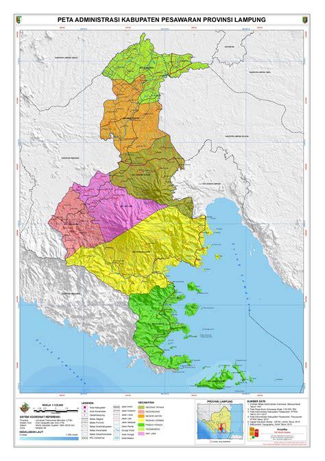 administrasi kabupaten pesawaran peta tematik indonesia