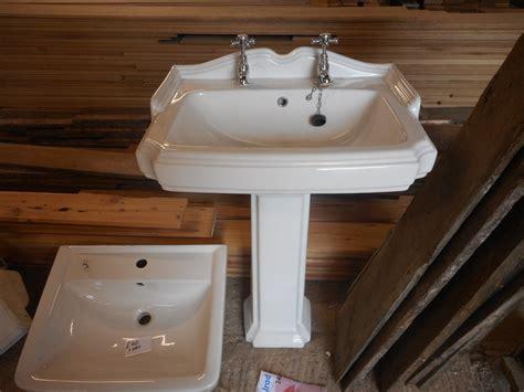 Art Deco Sink & Pedestal-authentic Reclamation