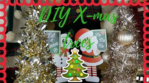 easy diy tinsel christmas trees dollar tree 99 cent