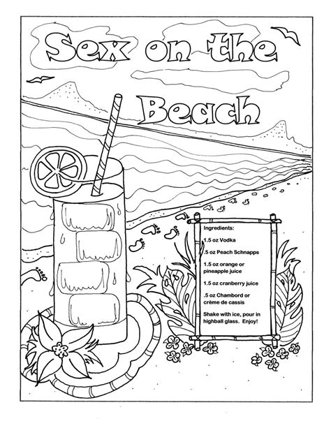 Coloring Vodka by Printable Coloring Page For Adults On The By