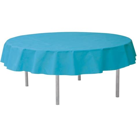 nappe ronde turquoise en intiss 233 opaque nappe ronde intiss 233 opaque