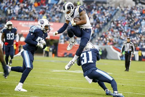 los angeles rams rb todd gurley named fedex player