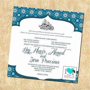 Muslim wedding invitation card format - eyerunforpob.org