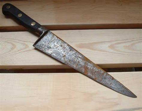knife rust rusty como cuchillo oxidado cuchillos tramontina blade limpiar campo grande antes remove armas blancas knives puedes sword clean