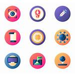 Futuristic Technology Thinking Icons
