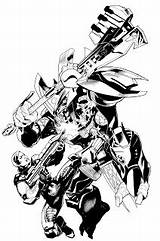 Halo Ink Variant Inks Brush Bombshellter Characters Step sketch template
