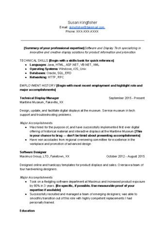 Help Me Write Resume by How To Write A Technical Resume 15 Steps With Pictures