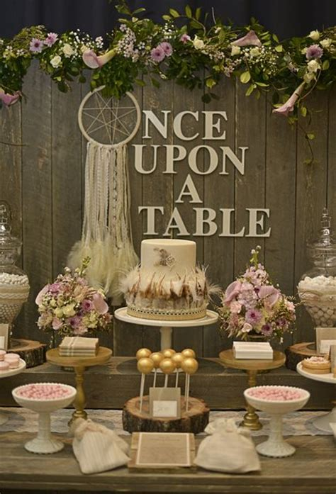 boho chic table ls rustic bohemian chic dessert table wedding party ideas
