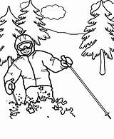 Coloring Pages Olympics Winter Printable Skiing Alpine Ski Scribblefun Comments sketch template