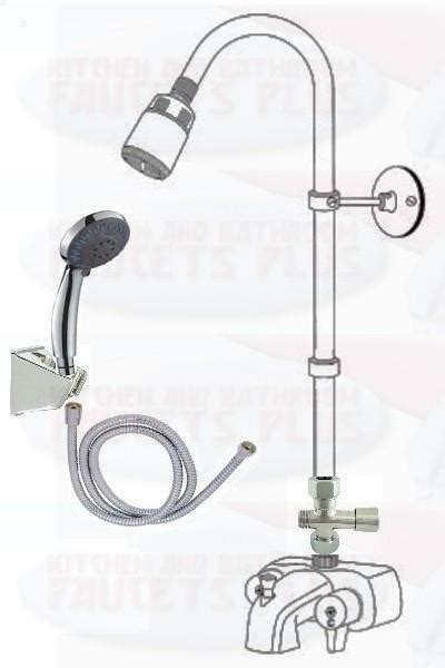add shower to bathtub faucet chrome three way add a shower clawfoot tub diverter faucet