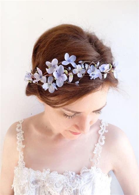 purple flower crown purple flower headband lilac flower