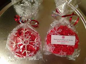 red snowflakes bridal shower favors for theme rkts With wedding shower favors pinterest