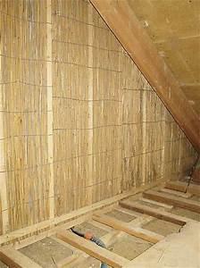 Reet Wand Dachgeschossausbau: Natürliche Trennwand Hiss Reet