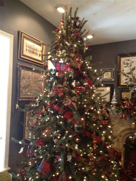 christmas tree idea tartan plaid ribbon   absolute