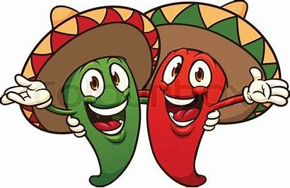 Mexican Clipart Chili Pepper Cartoon Peppers Clipground
