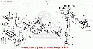 Honda Xl250 Motosport 250 1976 Usa Carburetor