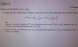 Taylorpolynom Berechnen : taylorpolynom gegeben sei die funktion f x 2 1 x 2 formel f r n te ableitung zeigen und ~ Themetempest.com Abrechnung