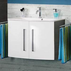 Waschtischunterschrank 80 Cm Breit : fackelmann lugano waschtischunterschrank 80 cm 73903 megabad ~ Bigdaddyawards.com Haus und Dekorationen