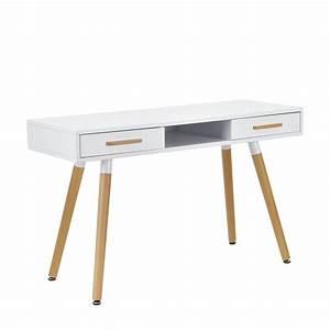 Design Schreibtisch Weiß : retro schreibtisch wei 120cm computertisch b ro tisch konsole ebay ~ Sanjose-hotels-ca.com Haus und Dekorationen