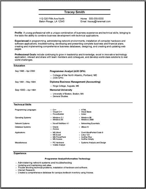 resume template for freshers download google resume model cv resume template exles