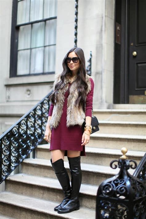 15 Stylish Outfit Looks With Faux Fur Vest You Can Copy