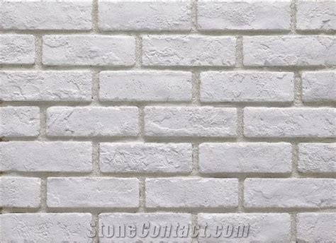 white brick veneer white artificial building tiles cultured brick 1009