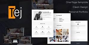 Tej One Page Personal Portfolio HTML Template By