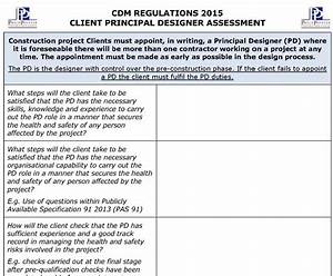 Cdm regulations 2015 pd assessment template pp for Cdm health and safety file template