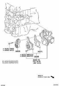 Toyota Venza Engine Water Pump  Main Engine Water Pump