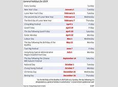 Hong Kong Public Holidays 2018 And 2019 vacationxstyleorg