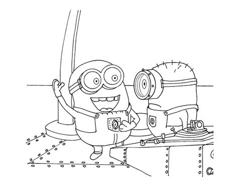 print minion coloring pages  despicable