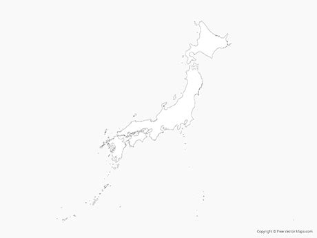 vector map  japan outline  vector maps