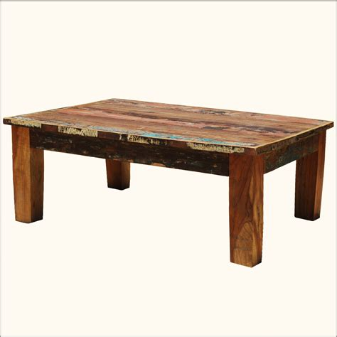 distressed wood coffee table distressed rustic reclaimed coffee table wood multi color