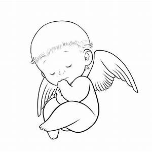 Baby Angel Wings Tattoos Coloring Pages