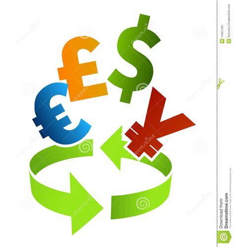 currency converter clip art stock vector illustration