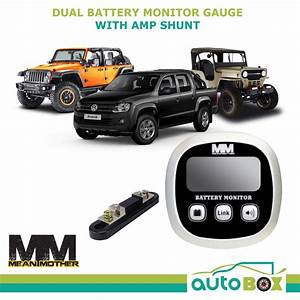Mean Mother Dual Battery Monitor Gauge With Amp Shunt 4wd