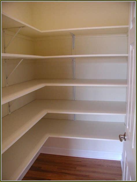 Melamine Shelving by Building Closet Shelves With Melamine Pantry Building