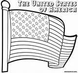Coloring Flag Usa Colorings Printable Getdrawings Getcolorings sketch template
