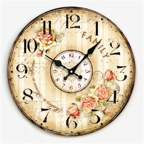 34 wooden wall clocks to 34cm digital wood clock on wall vintage country style