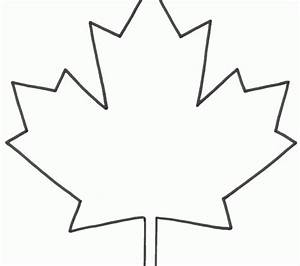 Maple Leaf Outline Clipart : Kids Coloring - europe-travel ...