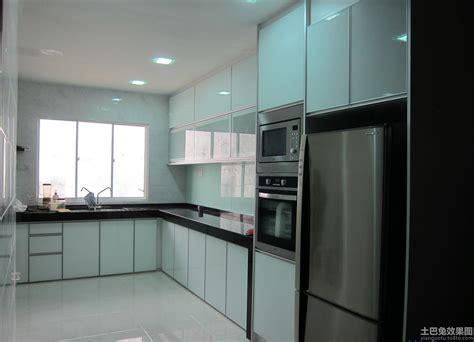 aluminum kitchen cabinet doors 晶钢玻璃橱柜效果图 土巴兔装修效果图 4026