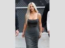 Kim Kardashian flashes nipples at Jimmy Kimmel Live! in LA
