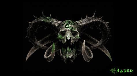 razer skull logo  wallpaper razer   skull art
