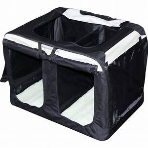 double compartment soft crates from splendid pets uk With fabric dog kennel