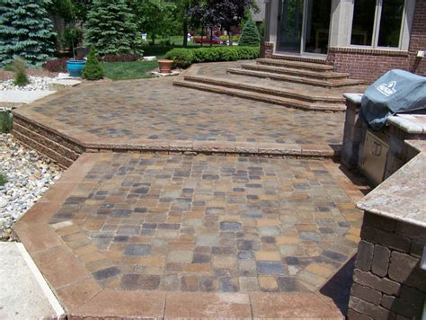 brick paver porch patio  stairs