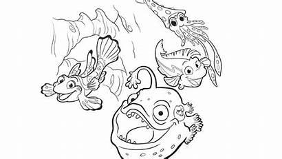 Coloring Splash Pages Fish Bubbles Pbs Soap