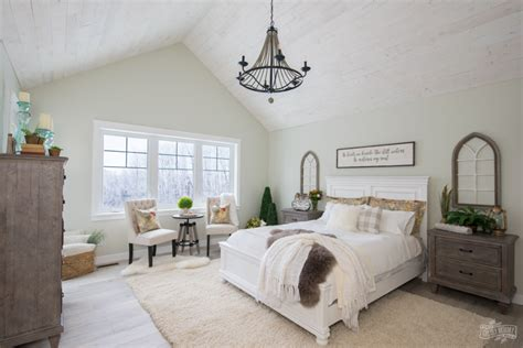 Rustic Traditional Lake House Master Bedroom Reveal One
