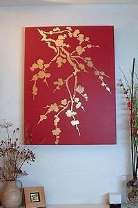 Cherry Blossom Silhouette Stencil 2 Spray Paint Wall